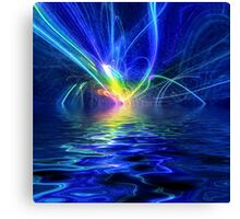 Laser Lightning Canvas Print