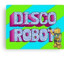 Disco Robot Canvas Print