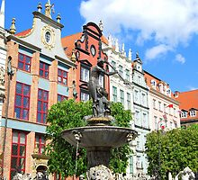 Gdańsk - Neptunes Fountain by KevinsView