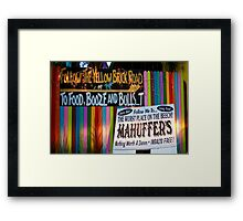 """""""Colorful Character""""  Framed Print"""