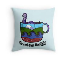 Loch-Ness MonsTEAr Throw Pillow