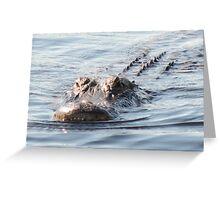 Smile gator smile Greeting Card