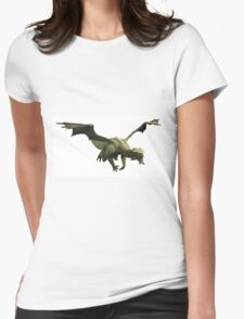 Green Dragon in Flight Womens Fitted T-Shirt
