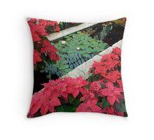 Red Splash of Colour Throw Pillow
