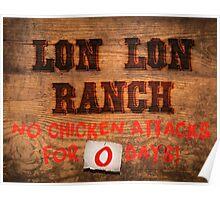Legend of Zelda - Lon Lon Ranch Sign Poster