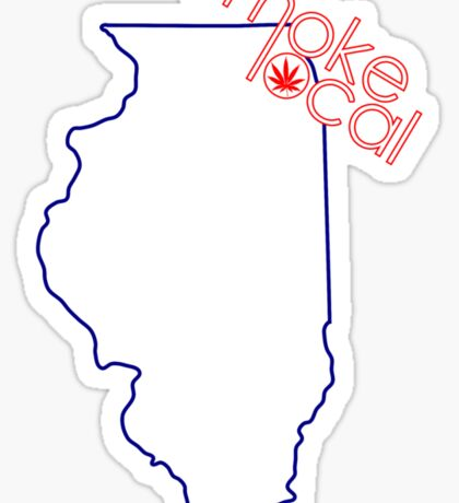 Smoke Local Weed in Chicago Illinois (IL) Sticker