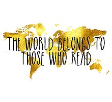 The World Belongs to Those Who Read - Gold by bboutique