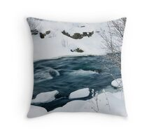 By the snowy river Throw Pillow