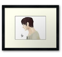 Eren Jeager Digital Painting Framed Print
