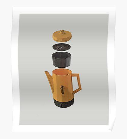 Yellow Coffee Pot Poster