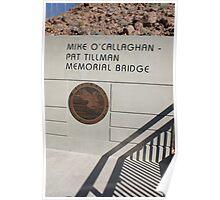 Commemorative Plaque for the O'Callaghan Tillman Bridge Poster