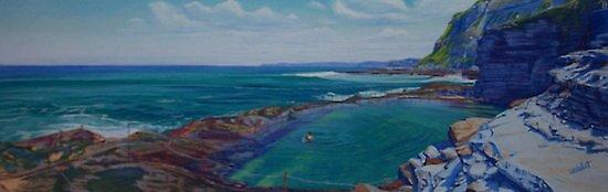 Waiting for the Next Wave - Bogey Hole, Newcastle, NSW, Australia by carolelliott7