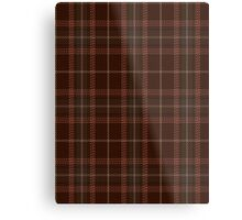 00404 Beanpole Brown Trial Tartan Metal Print