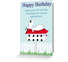Let sleeping dogs lay Greeting Card