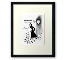 Fey Dently, Vampyre Framed Print