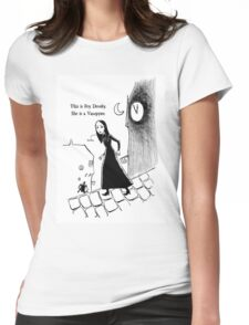 Fey Dently, Vampyre Womens Fitted T-Shirt
