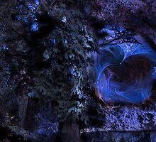 Blue Vortex in the Cave by Monica Wolfson