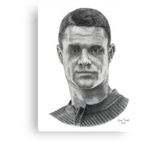 Daniel Carter stippling drawing Canvas Print