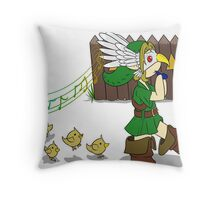 Leading the chicks Throw Pillow