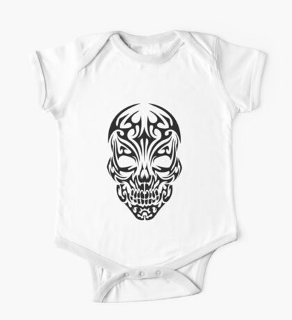 Tribal Skull One Piece - Short Sleeve