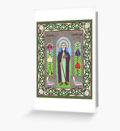 Icon of St. Hilda Greeting Card