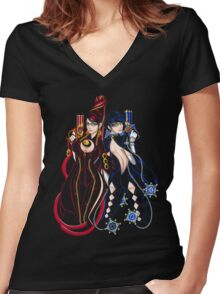 Bayonetta - Umbra Witch - B Women's Fitted V-Neck T-Shirt
