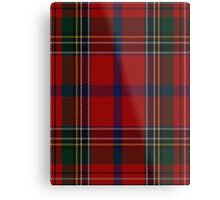 00409 Brown of Castledean Tartan  Metal Print