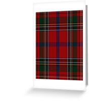 00409 Brown of Castledean Tartan  Greeting Card