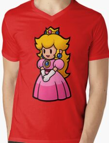 Princess Peach Mens V-Neck T-Shirt