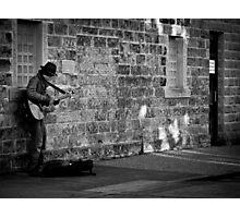 Playing for Kicks or Tips Photographic Print