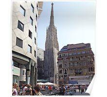 St. Stephen's Plaza, Vienna, Austria Poster