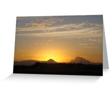Sunset at my house Greeting Card