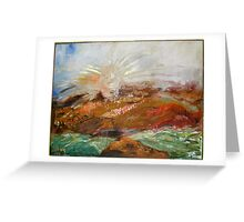 Sunrise in Israeli Valley  Greeting Card