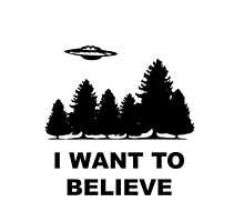 """I want to believe"" X Files by mafaldamaria"