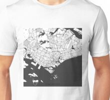 Singapore Map Gray Unisex T-Shirt