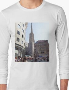 St. Stephen's Plaza, Vienna, Austria Long Sleeve T-Shirt