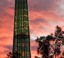 Swan Bell Tower at Dusk by Austin Dean
