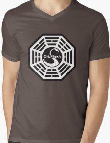 Keep Calm and Dharma Swan  Mens V-Neck T-Shirt