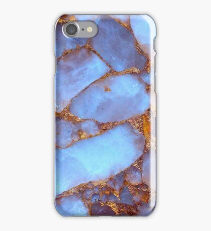 Blue Quartz and Gold iPhone / Samsung Galaxy Case iPhone Case/Skin