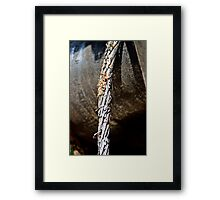 Metal wire Framed Print