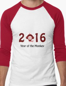 Cute 2016 Year of the Monkey Men's Baseball ¾ T-Shirt