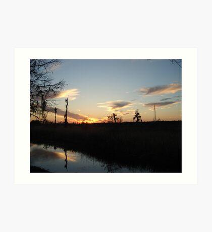 Sunset over Econfina Creek 2/11/2011 Art Print