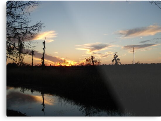 Sunset over Econfina Creek 2/11/2011 by May Lattanzio