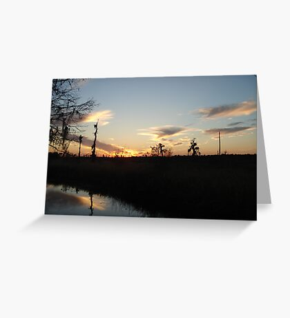 Sunset over Econfina Creek 2/11/2011 Greeting Card