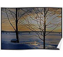 Ice Huts on Lake Nipissing Poster
