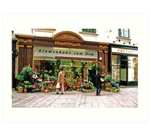 flower shop, Vienna, Austria Art Print