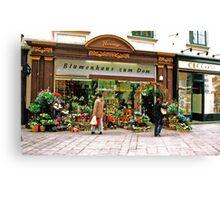 flower shop, Vienna, Austria Canvas Print