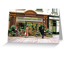 flower shop, Vienna, Austria Greeting Card