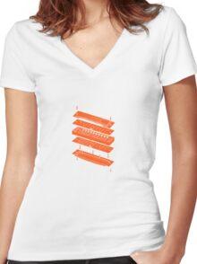 Harmonica Women's Fitted V-Neck T-Shirt