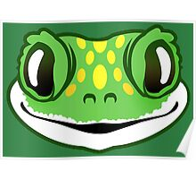 Green Cheeky Gecko Poster